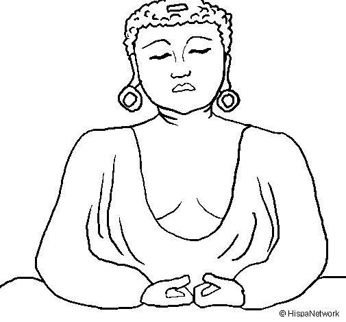 Desenho de Buda para Colorir