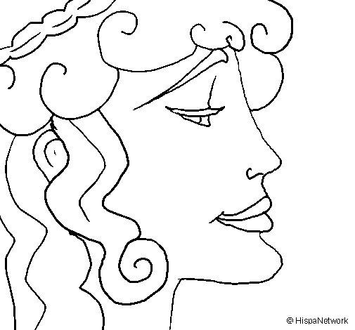 Desenho de Cabeça de mulher para Colorir