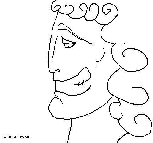 Desenho de Cabeça grega para Colorir
