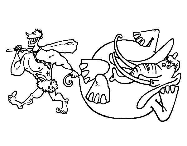 Desenho de Caça de elefante para Colorir