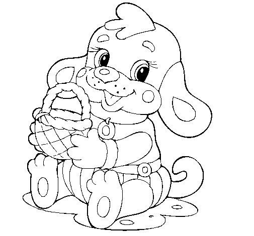 Desenho de Cachorro IV para Colorir