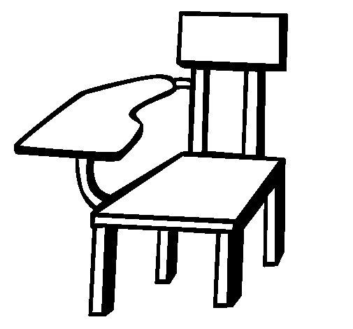 Desenho de Cadeira escolar para Colorir