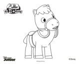 Desenho de Callie no Oeste - Sparky para colorear