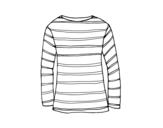 Desenho de Camiseta de manga comprida para colorear