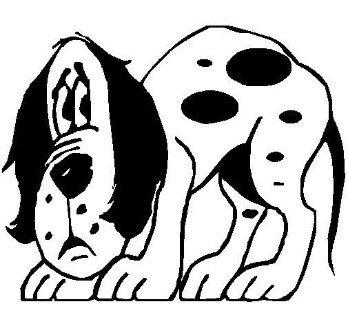 Desenho de Cão assustado para Colorir