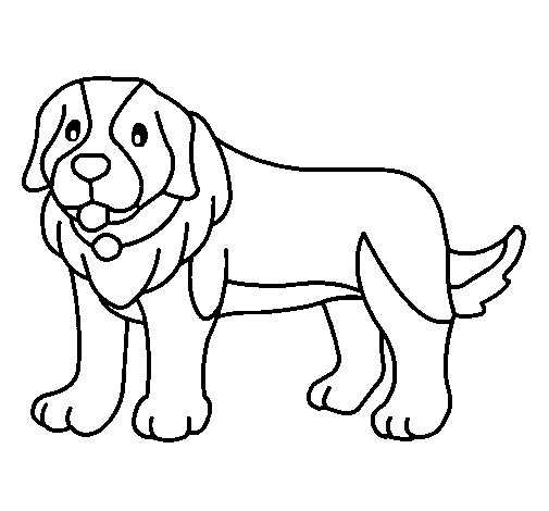 Desenho de Cão pigmento para Colorir