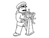 Desenho de Capitão para colorear