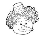 Desenho de Cara de Boneco de neve para colorear