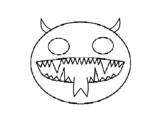 Desenho de Cara do demónio para colorear