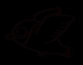 Desenho de Cardinalis para colorear