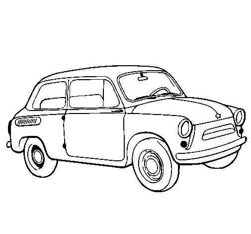 Desenho de Carro clássico para Colorir