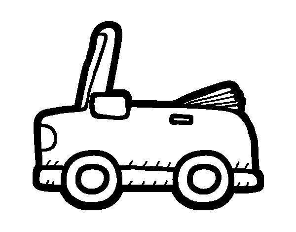 Desenho de Carro conversível para Colorir
