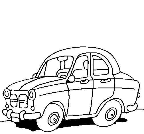 Desenho de Carro de cidade para Colorir