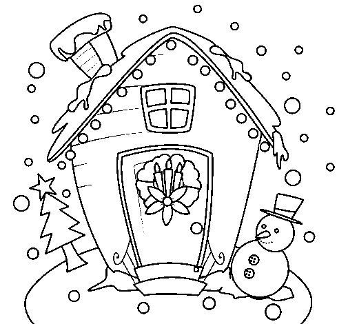 Desenho de Cartão de natal para Colorir