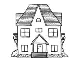 Dibujo de Casa com varandas