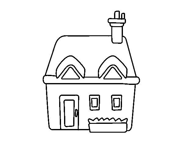 Desenho de casa con chamin para colorir for Cedro agitare disegni per la casa