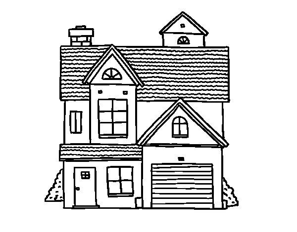 Casas Para Pintar. Free Casas De Colorear Para A A Para Para E Casas ...