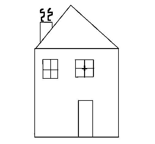 Desenho de casa iv para colorir - Para pintar casas ...
