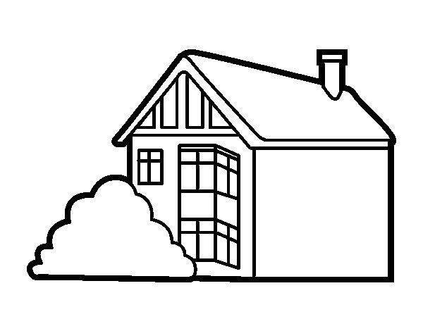 Desenho de casa moderna para colorir - Para pintar casas ...
