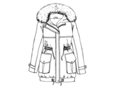 Desenho de Casaco de inverno para colorear