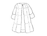 Desenho de Casaco de pele para colorear
