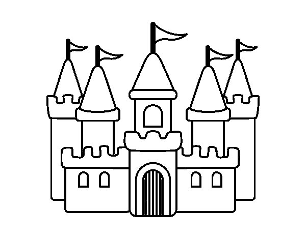 Desenho de Castelo fantástico para Colorir - Colorir.com