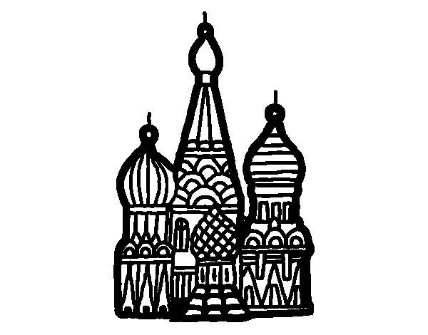 Desenho de Catedral de São Basílio para Colorir