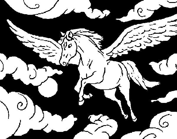 Desenho de cavalo alado para colorir for Disegni cavalli alati
