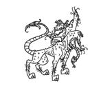Desenho de Cérbero para colorear