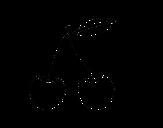 Desenho de Cereja ácida para colorear