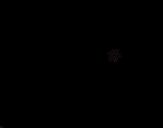 Desenho de Cesta com ovos de Páscoa para colorear