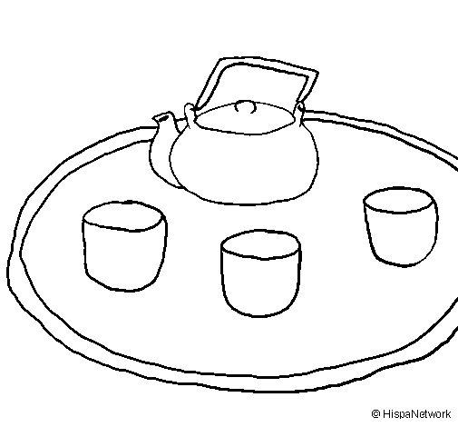 Desenho de Chá chinês para Colorir