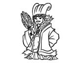 Dibujo de Chinês militar Kong Ming