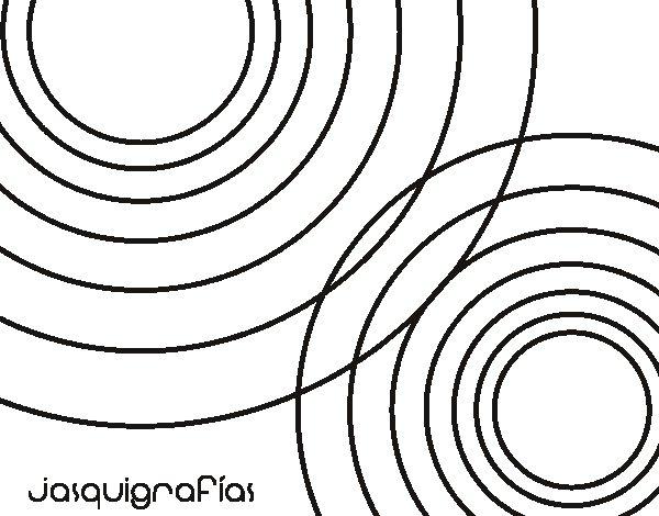 Desenho de Círculos juntos para Colorir