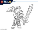 Desenho de Clay Nexo Knights para colorear