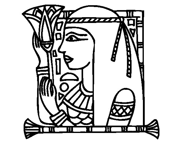 Desenho de Cleopatra para Colorir