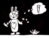 Desenho de Coelhito con cenoura para colorear