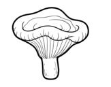 Desenho de Cogumelo paxillus involutus para colorear