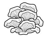 Desenho de Cogumelo pleurotus para colorear