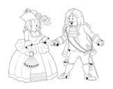 Dibujo de Conde e condessa
