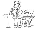 Desenho de Conferencista para colorear