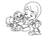 Dibujo de Contador de histórias