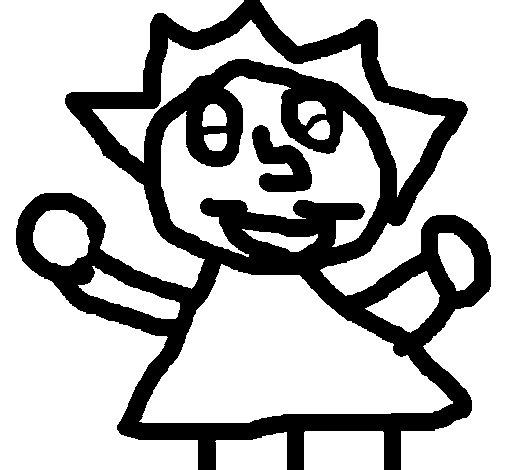 Desenho de Criança feliz para Colorir