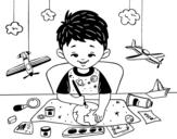 Desenho de Criatividade das crianças para colorear