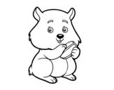 Desenho de Criceto gorducho para colorear