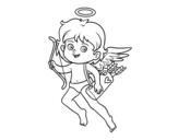 Dibujo de Cupido com seu arco mágico