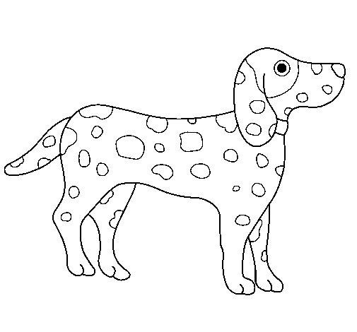 Desenho de Dálmata para Colorir