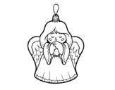 Desenho de Decoração de Natal anjinho para colorear