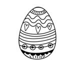 Desenho de Decoração de ovos de Páscoa para colorear