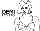 Desenho de Demi Lovato para colorear